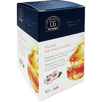 Club del gourmet Flores de manzanilla 10 bolsitas individuales estuche 15 g estuche 15 g