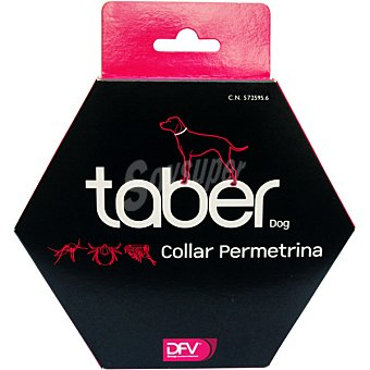 Taber dog Collar permetrina para perro protección frente a pulgas y mosquitos 1 unidad
