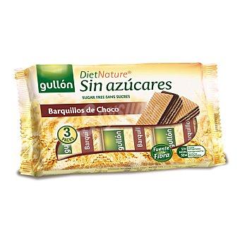 Gullón Barquillos de chocolate sin azúcares Diet Nature Paquete 210 g