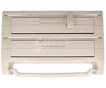 BERNAR Portarrollos modular triple de pared con cuchillas, fabricado en plástico ABS blanco, 10x27x41 centímetros 1 Unidad