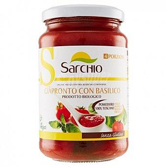 Sarchio Salsa de tomate con albahaca ecológico sin gluten Tarro 340 g