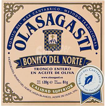 Olasagasti Bonito del norte tronco entero en aceite de oliva Lata 81 g