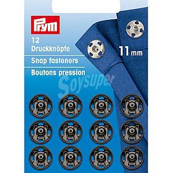 PRYM Estuche 12 broches de presión en color negro de 11 mm