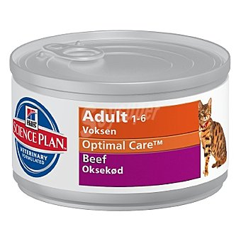HILL'S SCIENCE PLAN ADULT Alimento para gato con buey Lata 85 g