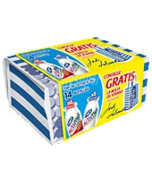 Actimel Danone Yogur liquido 8 natural + 6 fresa + bolsa de verano Actimel Pack de 14x100 g