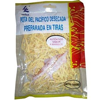 LEILE Pota del Pacífico desecada preparada en tiras Paquete 100 g