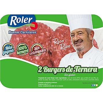 Roler Hamburguesas de ternera bandeja 200 g 200 gr (2 unidades)