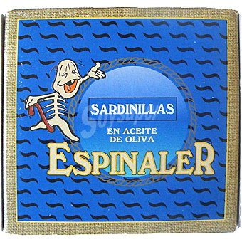 Conservas Espinaler Sardinillas en aceite de oliva 20-25 piezas Lata 65 g neto escurrido