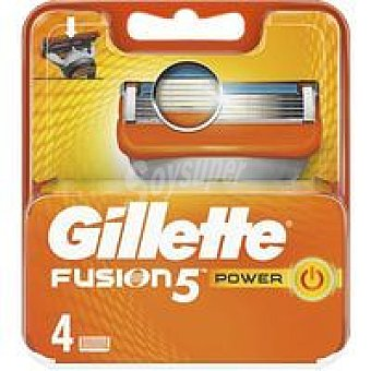Gillette Cargador de afeitar Pack 4 uds