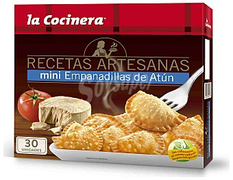 La Cocinera Mini empanadillas Recetas Artesanas de atún 30 unidades (450 g)
