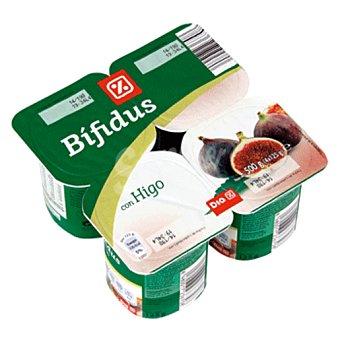 DIA Yogur bífidus con higo pack 4 unidades 125 g