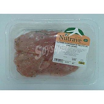 Nutrave Fileteada de pollo extrajugosa a las finas hierbas Bandeja 375 gr