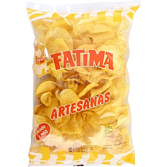 Fatima Patatas artesanas fritas con aceite de girasol bolsa 400 g Bolsa 400 g