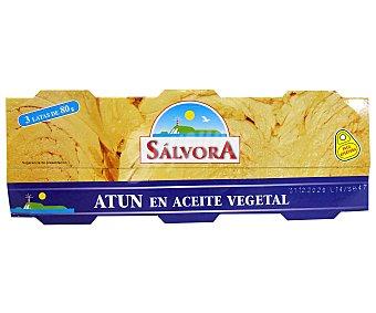 Salvora Atún en aceite vegetal Pack 3 uds