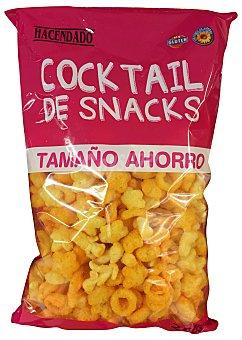 Hacendado Aperitivo cocktail de snacks (Bombitas mantequilla, estrellas y aros naranja) Paquete de 250 g