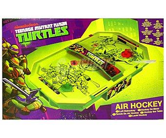 NICKELODEON Mesa de Air Hockey de las Tortugas Ninja, 2 Jugadores 1 Unidad