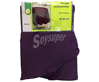 Productos Económicos Alcampo Mantel 100% poliéster, color morado liso, 140x180 centímetros 1 Unidad
