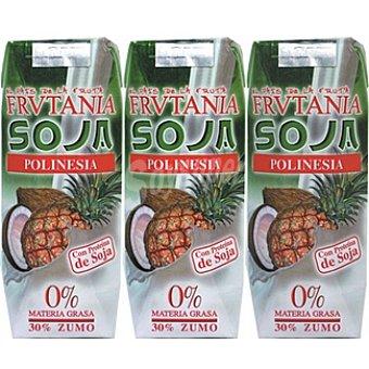 FRUTANIA Polinesia Zumo de frutas con soja Pack 3 envase 250 ml