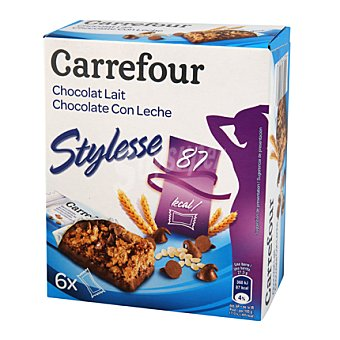 Carrefour Barrita cereales chocolate con leche 125 g