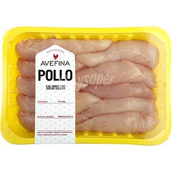 Avefina Solomillo de Pollo 8 unidades - Bandeja 300 g peso aprox.