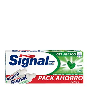 Signal Dentífrico gel fresco 2 unidades de 75 ml