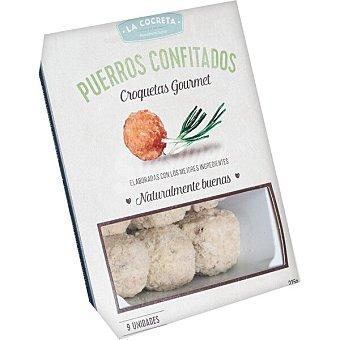 La Cocreta Croquetas gourmet de puerros confitados 9 unidades Envase 225 g