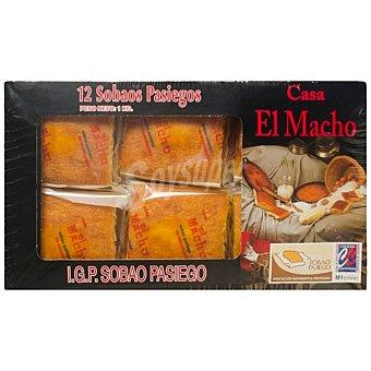 El Macho Sobaos 12 unidades IGP Sobao Pasiego Paquete 1 kg