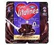 Crema de chocolate 0,9% m.g.  4 unidades de 125 g Vitalínea Danone