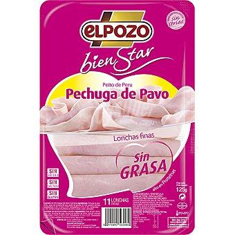 ElPozo Pechuga de pavo sin grasa Bienestar Envase 125 g