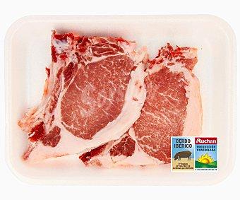 Auchan Producción Controlada Chuletas de lomo de cerdo ibérico de cebo 200 Gramos