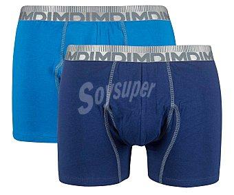 DIM 3D Flex Morphotech Pack de 2 calzoncillos bóxer, color azul/marino, talla XL.