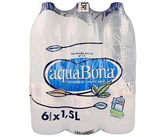 Aquabona Agua mineral natural de mineralización muy débil Pack 6 botellas x 1,5 l