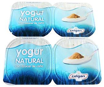 Celgán Yogur Natural Azucarado 4 Unidades de 125 Gramos