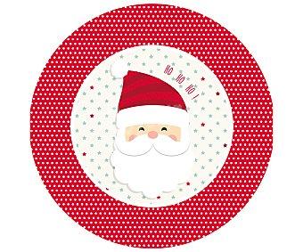Actuel 20 platos llanos desechables con diseño Papá Noel, 23cm., actuel Dear Santa