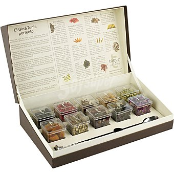 Toque Especias para cócteles selección de botánicos para dar un toque especial a tu gin&tonic Estuche 10 unidades