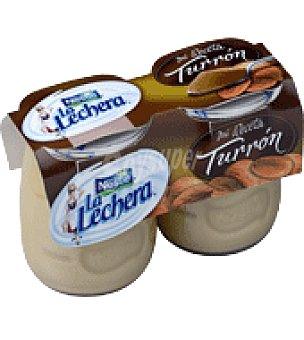 La Lechera Nestlé Postre con turrón Pack de 2x135 g