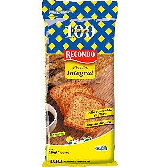Recondo Pan biscote integral 100 UNI