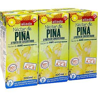 Aliada Néctar de piña elaborado a base de concentrado Pack 6 envases 200 ml