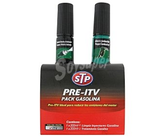 STP Kit Pre ITV Pack Gasolina 200ml Limpia Inyectores + 200ml Tratamiento Gasolina