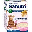 Papilla multicereales con bífidus con gluten para bebés a partir de 6 meses 600 gramos Sanutri