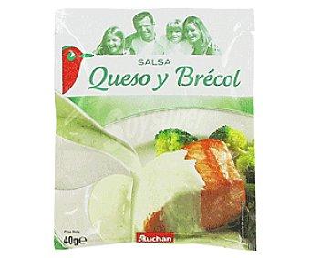 Auchan Salsa de Queso y Brécol Sobre 40 Gramos
