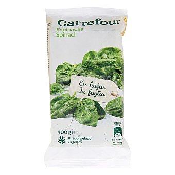 Carrefour Espinacas en hojas 400 g