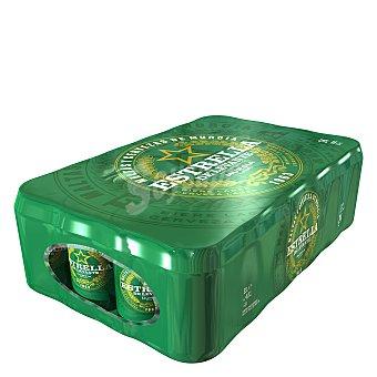 Estrella Levante Cerveza lager de Murcia 24 latas de 33 cl