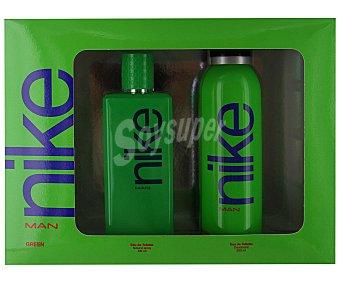 Nike Estuche para hombre nike green con colonia vaporizador (100ml) más desodorante spray (200ml) 1 unidad
