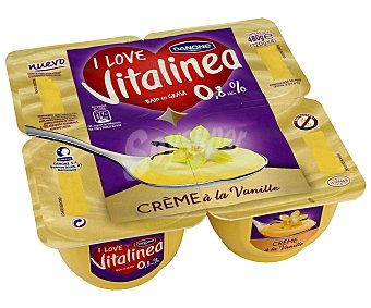 Vitalínea Danone Crema vainilla 4x120g