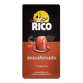 Rico Café descafeinado en cápsulas 10 ud