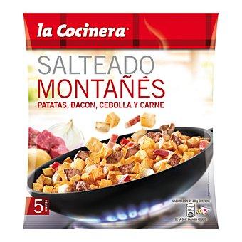 La Cocinera Salteado montañes de carne de vacuno, patatas y bacon 400 g