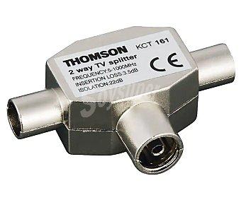 Thomson 132090 Distribuidor de señal de antena en T de 2 machos y una hembra