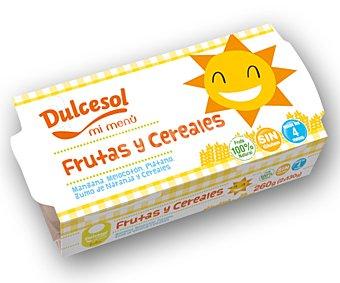 Dulcesol Tarrito de fruta con cereales 2 unidades 200 gramos