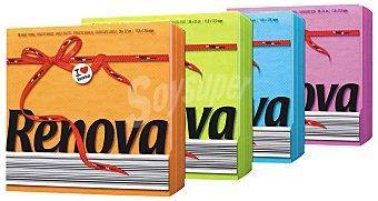 Renova Servilletas colores surtidos 1 capa Paquete 70 unidades